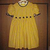 Работы для детей, ручной работы. Ярмарка Мастеров - ручная работа Детское платье в горошек. Handmade.