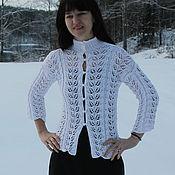 Одежда ручной работы. Ярмарка Мастеров - ручная работа Ажурная зима Кофта из хлопка. Handmade.