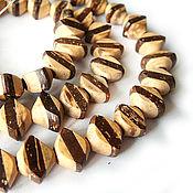 Материалы для творчества handmade. Livemaster - original item Beads, laminated Coconut hexagon. Handmade.