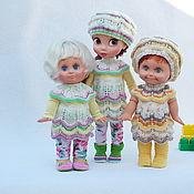 """Куклы и игрушки ручной работы. Ярмарка Мастеров - ручная работа """"Ванильно-фисташковое мороженое"""" - наряд для кукол Disney Animator. Handmade."""