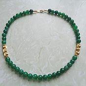 Украшения handmade. Livemaster - original item Necklace green agate with gold. Handmade.