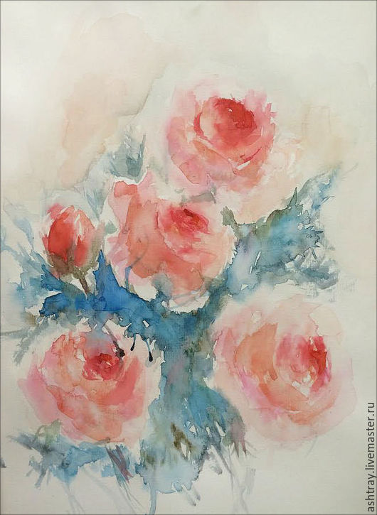 Картины цветов ручной работы. Ярмарка Мастеров - ручная работа. Купить Нежность (2). Handmade. Розовый, нежный, нежный подарок