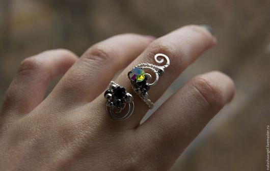 """Кольца ручной работы. Ярмарка Мастеров - ручная работа. Купить Большое кольцо """"Разноцветный камень"""" (необычные украшения). Handmade."""