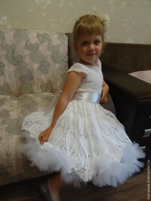 """Одежда для девочек, ручной работы. Ярмарка Мастеров - ручная работа. Купить Платье """"Белый лебедь"""". Handmade. Белый, платье для девочки"""