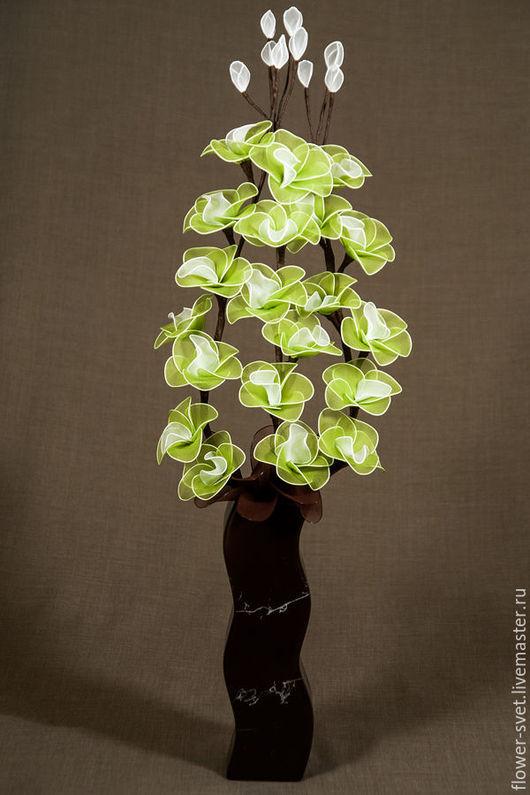 Персональные подарки ручной работы. Ярмарка Мастеров - ручная работа. Купить Букет-светильник Орхидея Мохито. Handmade. Цветы