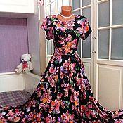 Одежда ручной работы. Ярмарка Мастеров - ручная работа Штапельное платье в пол Верона 2. Handmade.