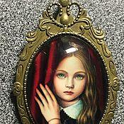 """Украшения ручной работы. Ярмарка Мастеров - ручная работа Брошь """"Девочка с зелёными глазами"""". Handmade."""