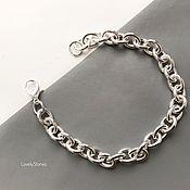 handmade. Livemaster - original item Chain bracelet with large links casual stylish. Handmade.