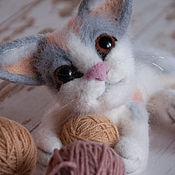 Felted Toy handmade. Livemaster - original item Felt toy kitten. Handmade.