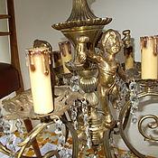 Люстра с 3 херувимами  винтаж, Италия