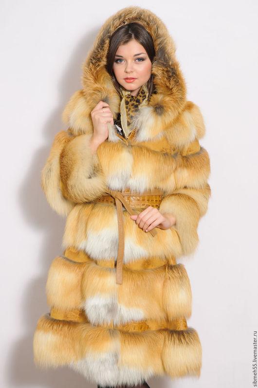 Верхняя одежда ручной работы. Ярмарка Мастеров - ручная работа. Купить Шуба из меха лисы. Handmade. Рыжий, мех