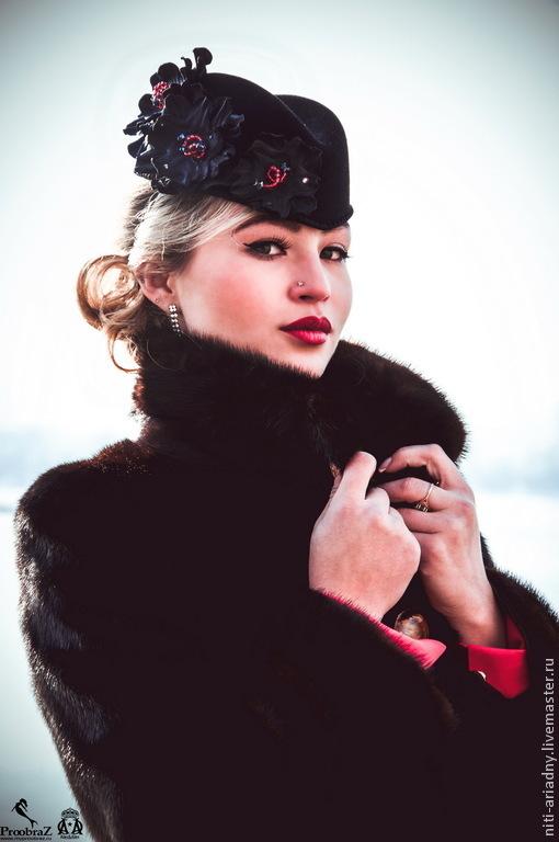 """Шляпы ручной работы. Ярмарка Мастеров - ручная работа. Купить Пилотка """"Louise"""". Handmade. Шляпка женская, пилотка, шляпка с цветами"""