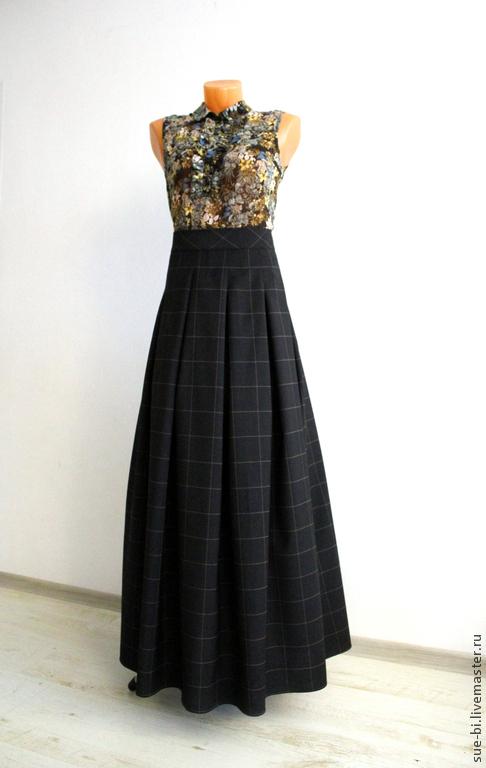 Купить юбки в пол широкие