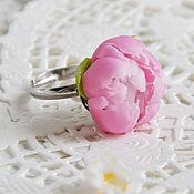 """Украшения ручной работы. Ярмарка Мастеров - ручная работа Кольцо """"Розовый пион"""". Handmade."""