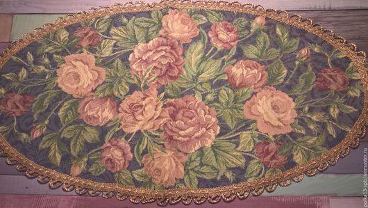 Салфетка гобеленовая декоративная.  ` Ретро розы`.