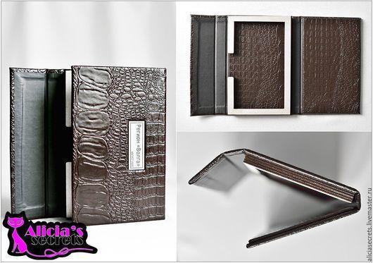 Подарочная упаковка ручной работы. Ярмарка Мастеров - ручная работа. Купить Короб из кожи+ деревянная вставка. Handmade. Кожа, кожаная