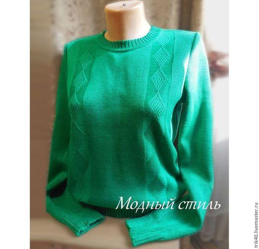 Кофты и свитера ручной работы. Ярмарка Мастеров - ручная работа. Купить Свитер Сочная зелень. Handmade. Зеленый, свитер вязаный