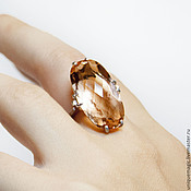 Украшения handmade. Livemaster - original item Ring with citrine. 925 sterling silver.. Handmade.
