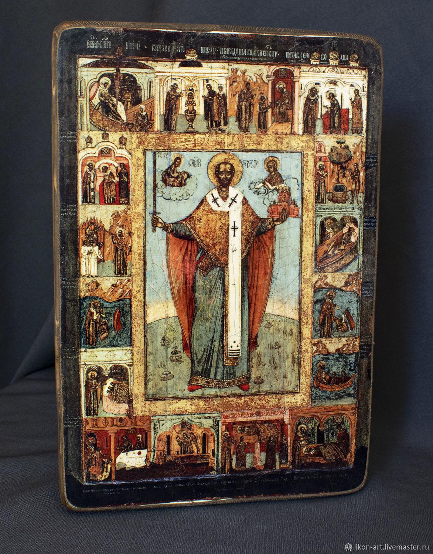Wooden icon ' Nikola Mozhaisky', Icons, Simferopol,  Фото №1