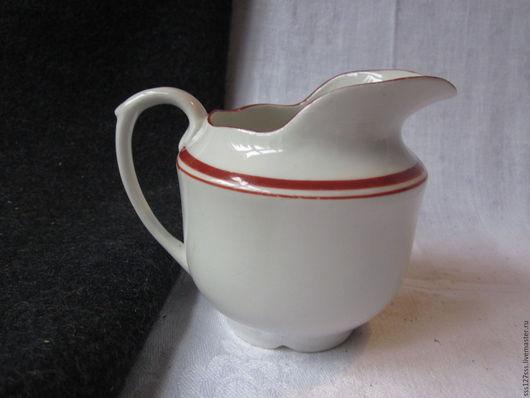 Винтажная посуда. Ярмарка Мастеров - ручная работа. Купить (91-10-В ) Старинный молочник фарфор. РСФСР винтаж. Handmade.