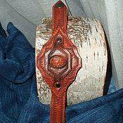 Украшения ручной работы. Ярмарка Мастеров - ручная работа Браслет кожаный с авантюрином. Handmade.