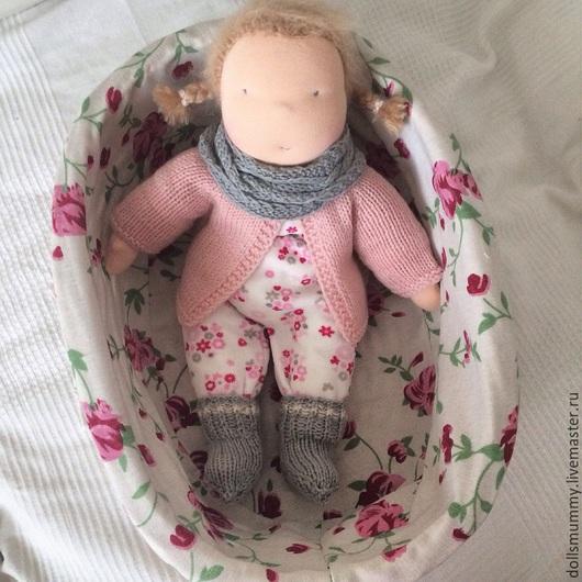 Вальдорфская игрушка ручной работы. Ярмарка Мастеров - ручная работа. Купить Кукла в пришивном комбинезоне (36 см). Handmade.