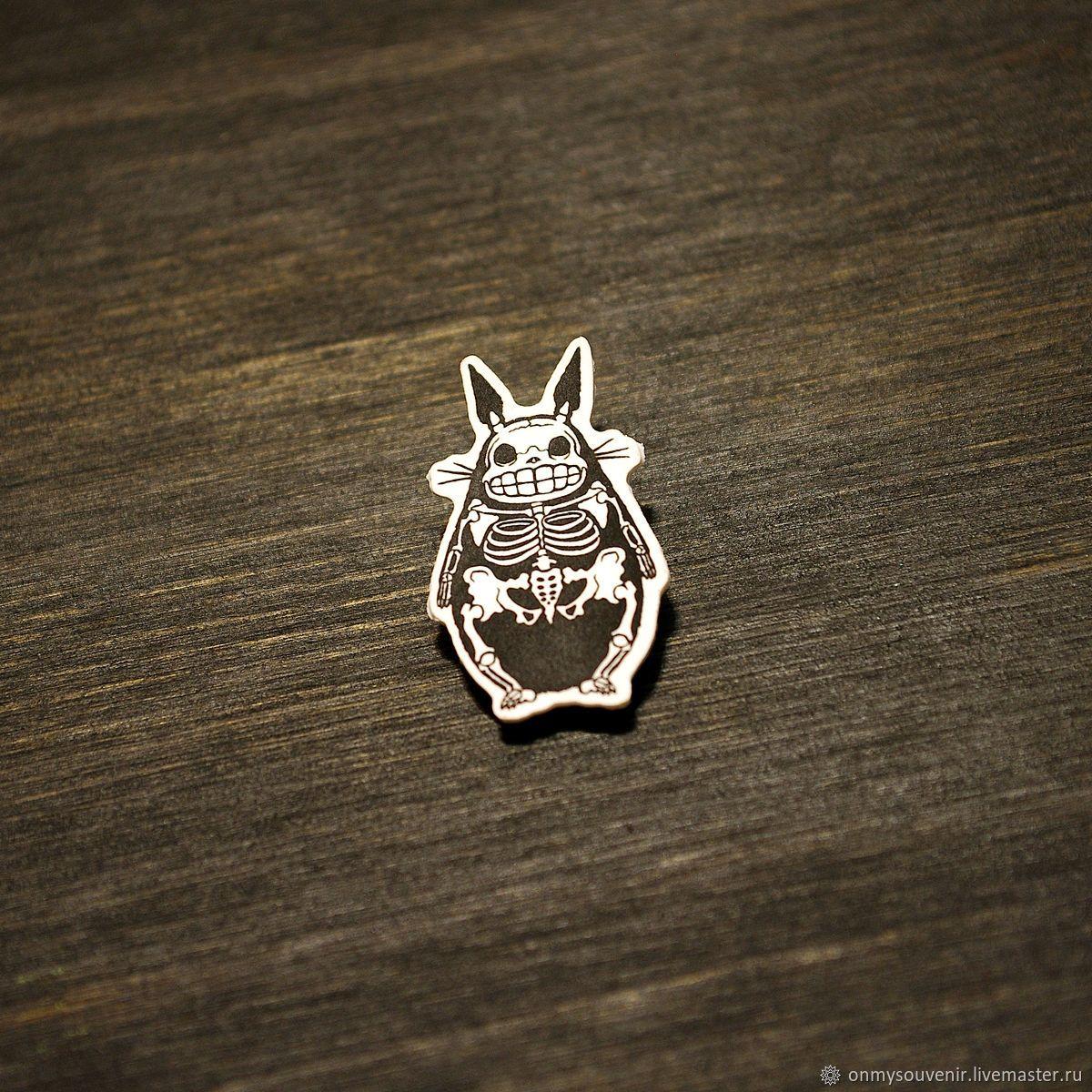 Totoro skeleton icon', Badge, Voronezh,  Фото №1