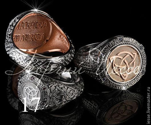 на фото: кольца из серебра 925 пробы(слева-малое, справа- Тор большой) с черным родированием и позолотой, малое кольцо с белым и черным родированием , сапфирами нат. Возможно сделать из золота 585 про