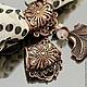 Кольцо-бейл для создания украшений с платком или шарфом. Есть колечки для крепления подвески, кулона или камеи