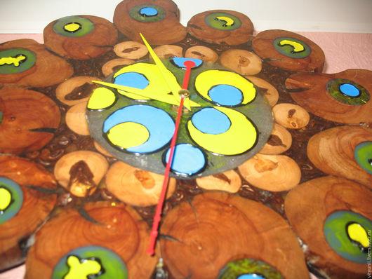 """Часы для дома ручной работы. Ярмарка Мастеров - ручная работа. Купить Часы """"Оматикайя"""". Handmade. Комбинированный, для детей, подарок женщине"""