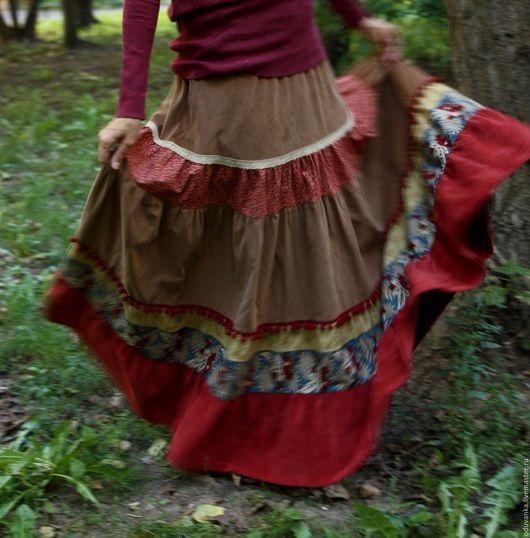 """Юбки ручной работы. Ярмарка Мастеров - ручная работа. Купить Вельветовая юбка """"Красная ягода"""". Handmade. Юбка, женская юбка"""