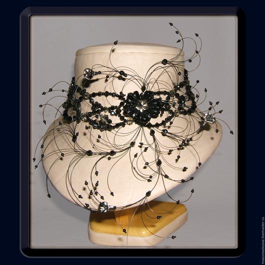 """Колье, бусы ручной работы. Ярмарка Мастеров - ручная работа. Купить ожерелье """"Черная магия"""". Handmade. Черный, авторская работа"""