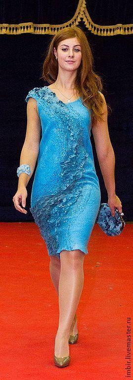 """Платья ручной работы. Ярмарка Мастеров - ручная работа. Купить Платье """"Из пены волн"""" ( продано). Handmade. Голубой"""