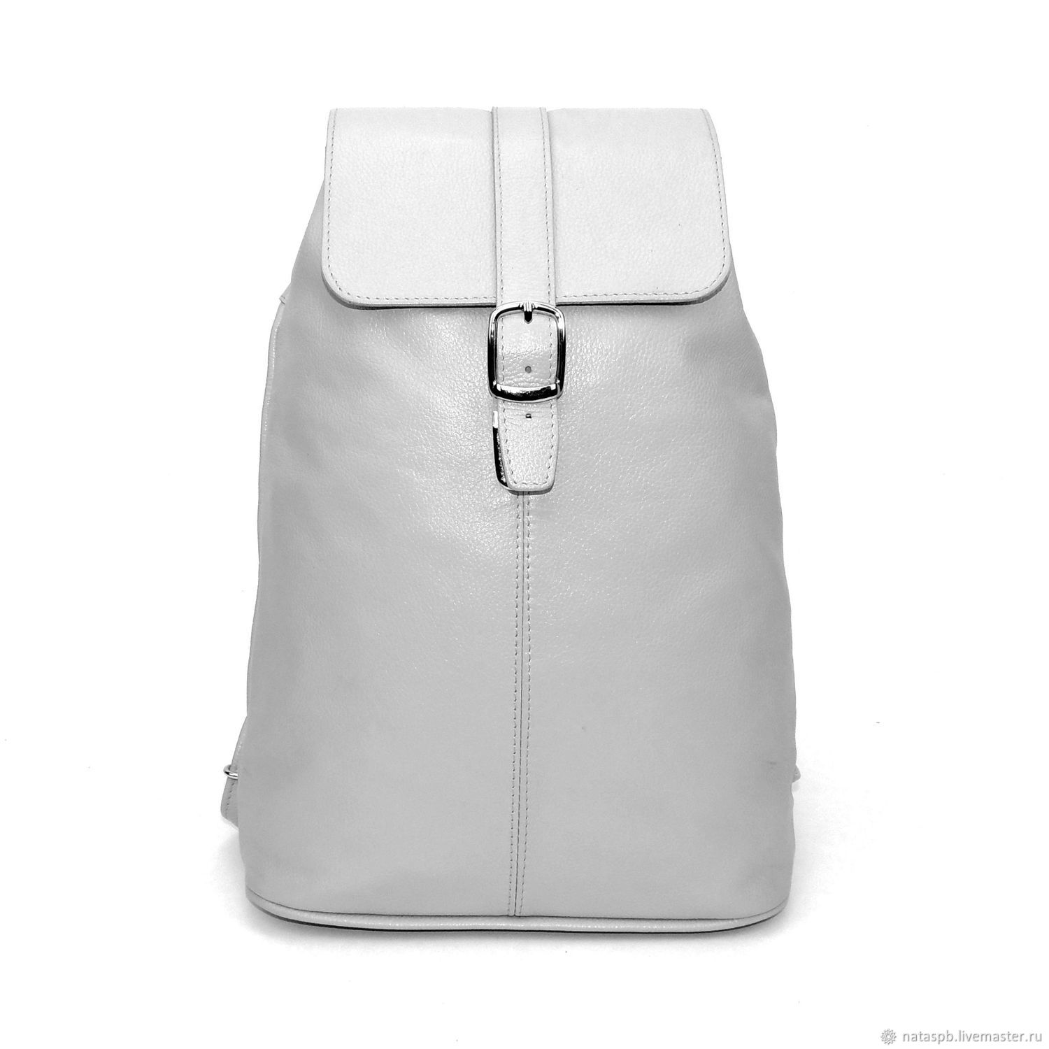 Women s backpack leather gray Titania – shop online on Livemaster ... f7f85bd1b3181