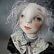 """Коллекционные куклы ручной работы. Ярмарка Мастеров - ручная работа. Купить Кукла """"Горошинка"""". Handmade. Серый, паперклей, акрил"""