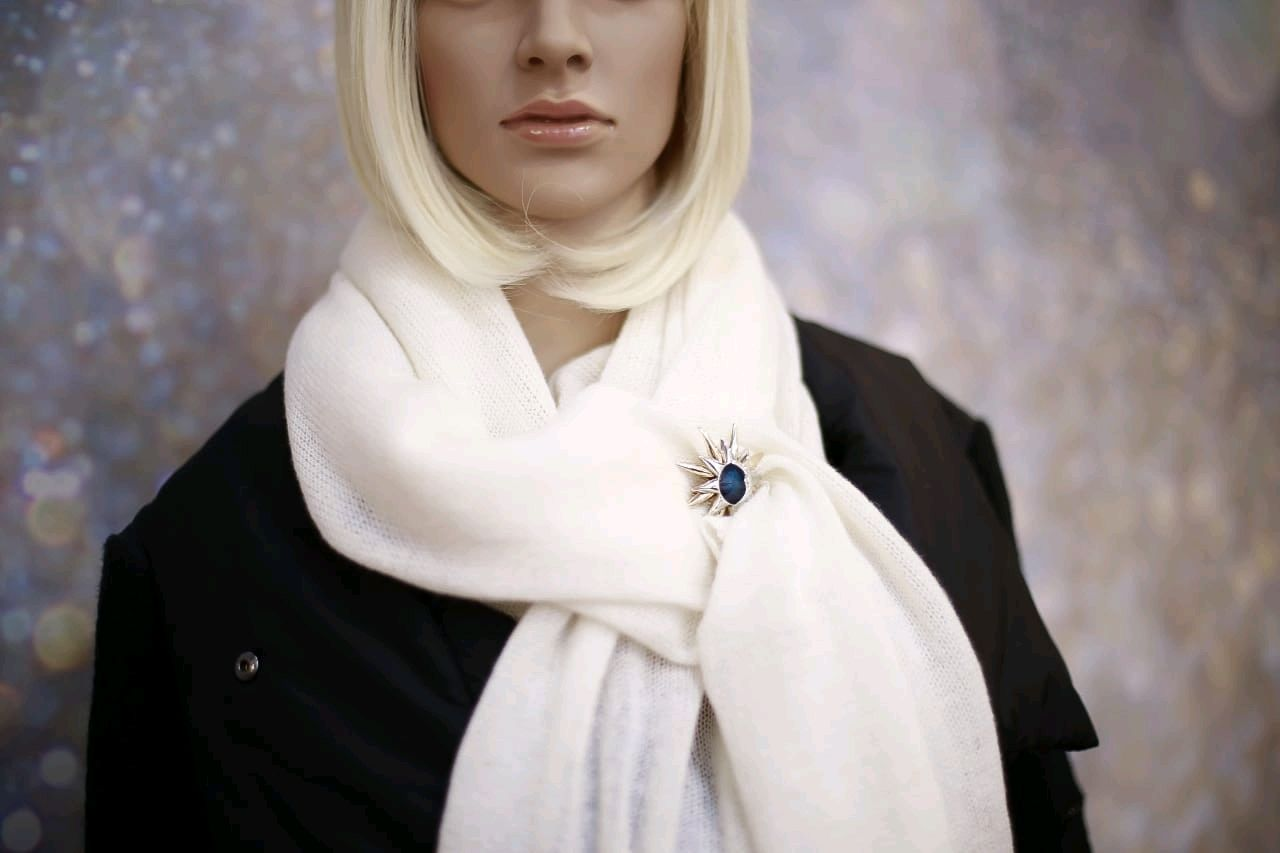 100% premium cashmere scarf Loro Piana (Italy), Scarves and snoods, St. Petersburg,  Фото №1