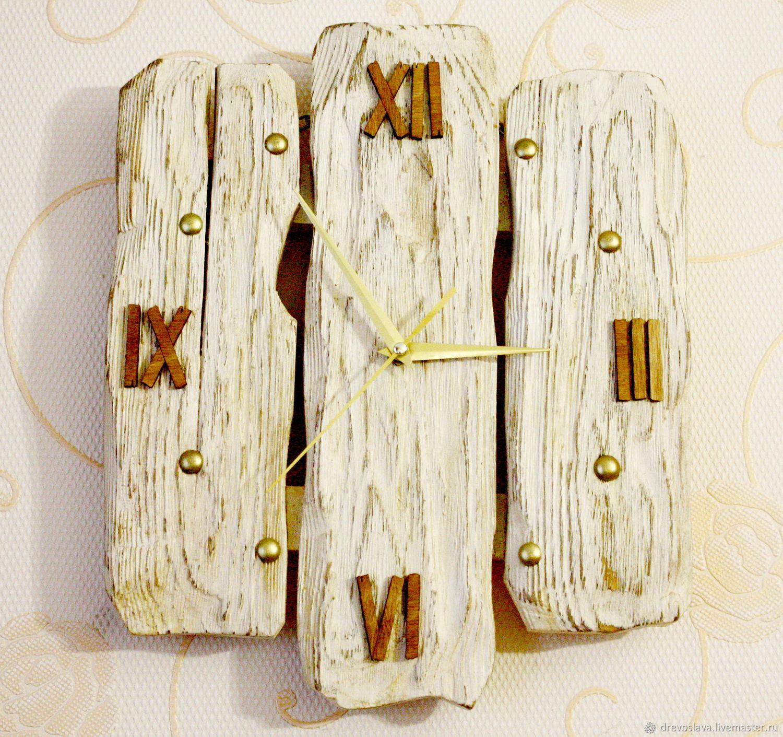 Часы настенные. Текстурированный деревянный циферблат, Часы классические, Тольятти,  Фото №1