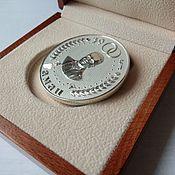 Подарки к праздникам ручной работы. Ярмарка Мастеров - ручная работа Серебряная медаль с портретом. Handmade.