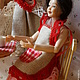 Куклы и игрушки ручной работы. Миниатюра Кухонный комплект  для кукольного домика из льна. Мелочь, а приятно! (l-malinovskaya). Ярмарка Мастеров.
