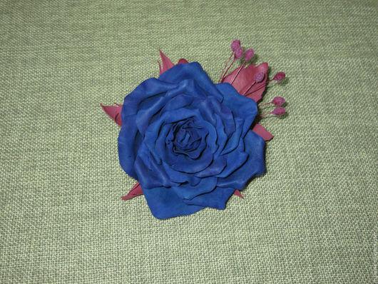 Роза «Сапфир», брошь из фоамирана. МамиНа мастерская цветы и декупаж. Ярмарка Мастеров.