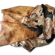 Аксессуары handmade. Livemaster - original item Batik Stole Cinnamon. Handmade.