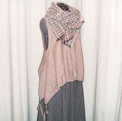 Одежда ручной работы. Ярмарка Мастеров - ручная работа №157 Жилет льняной. Handmade.