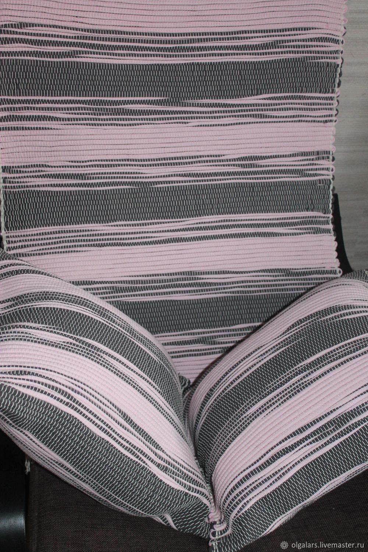 Комплект: подушки и коврик домотканый