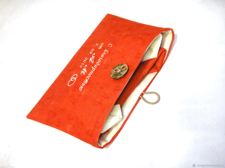 Носовой платок с монограммой Подарок мужчине Подарки на свадьбу, Подарки, Клин, Фото №1