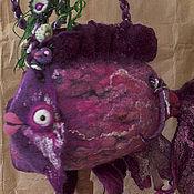 Сумки и аксессуары ручной работы. Ярмарка Мастеров - ручная работа Арт - сумка, рыба. Handmade.