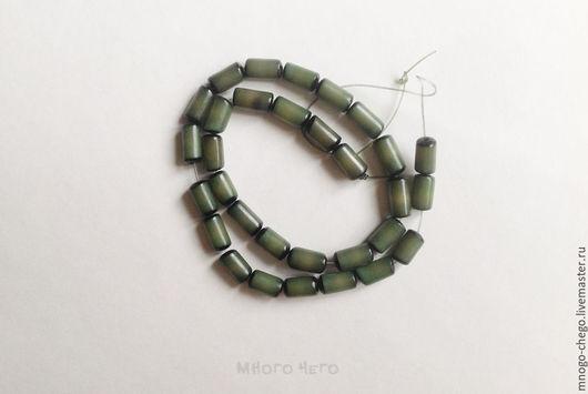 Для украшений ручной работы. Ярмарка Мастеров - ручная работа. Купить Бусины / пальма Buri / зеленые / цилиндр 11x6 – 13x8 мм. Handmade.