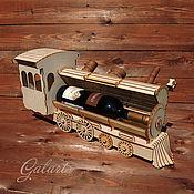 Винтаж ручной работы. Ярмарка Мастеров - ручная работа Паровоз - подставка под вино. Handmade.
