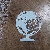 Материалы для творчества handmade. Livemaster - original item !Cutting for scrapbooking - GLOBUS, TRAVEL, JOURNEY, diz. cardboard. Handmade.