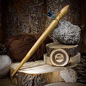 Материалы для творчества handmade. Livemaster - original item Spindle for spinning cherry Wood spindle #B22. Handmade.