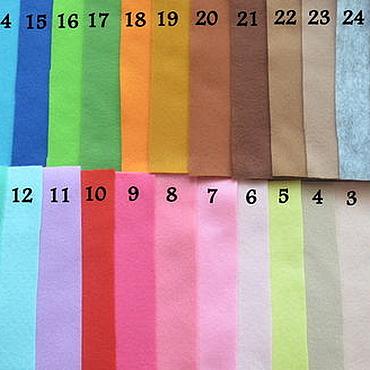 Материалы для творчества ручной работы. Ярмарка Мастеров - ручная работа 25 цветов! Фетр мягкий 1 мм. Handmade.